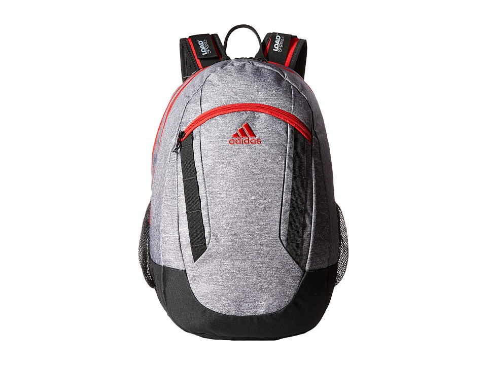 adidas - Excel II Backpack (Heather Grey/Black/Scarlet) Backpack Bags