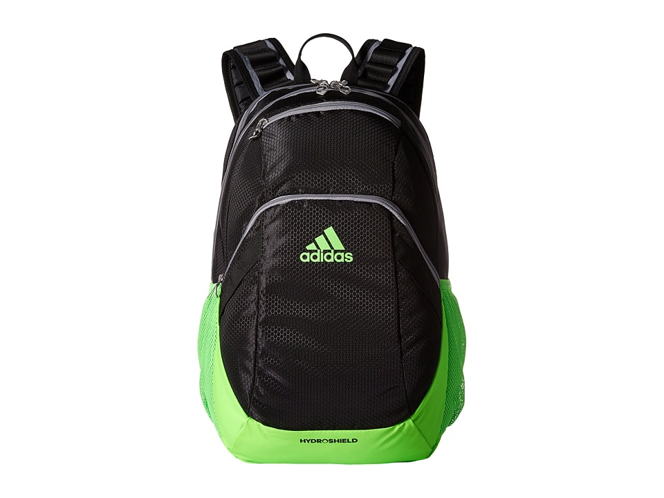 adidas - Pace Backpack (Black/Solar Green/Grey) Backpack Bags