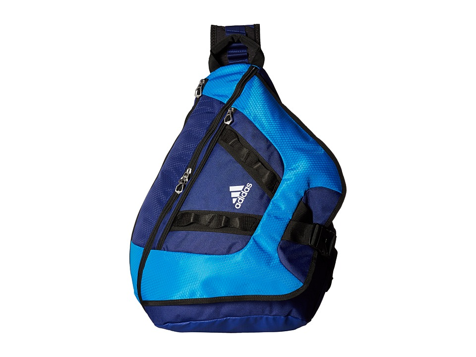 adidas - Capital II Sling (Bright Blue/Unity Ink/Black/Neo White) Backpack Bags