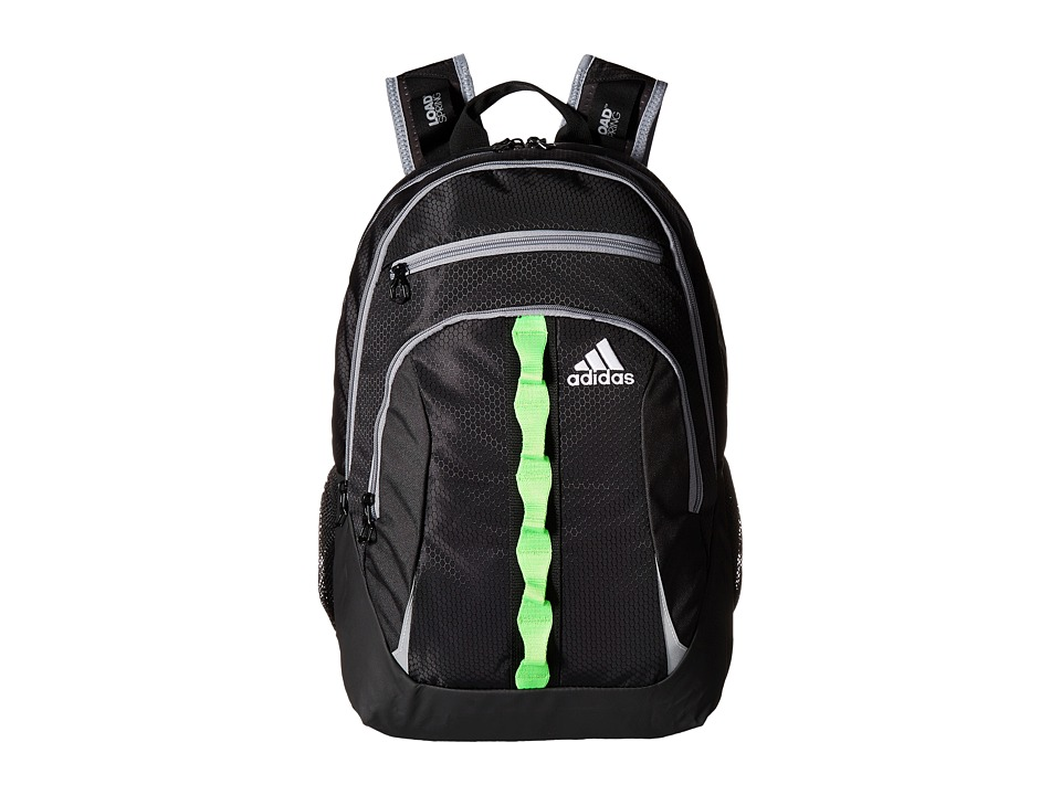 adidas - Prime II Backpack (Black/Solar Green/Grey) Backpack Bags