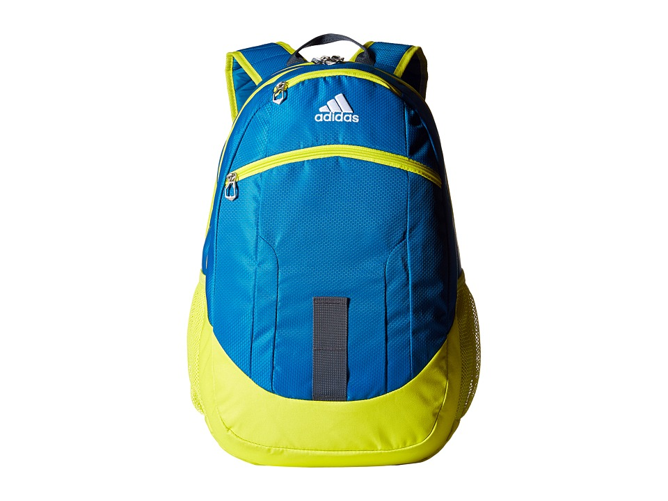 adidas - Foundation II Backpack (Unity Blue/Shock Slime/Deepest Space/Neo White) Backpack Bags