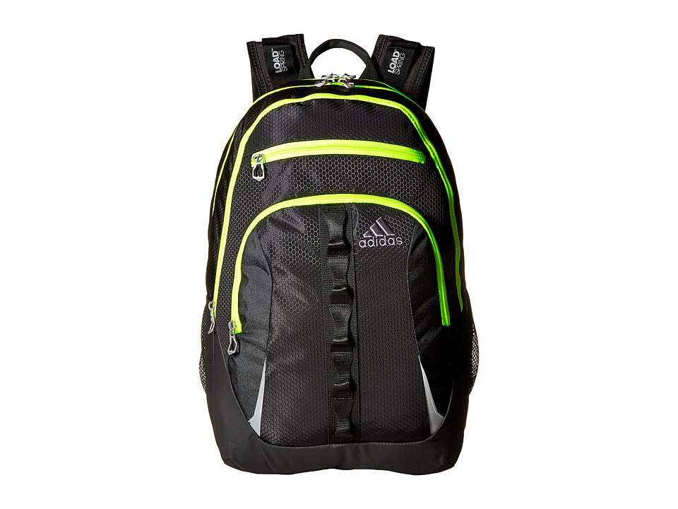 adidas - Prime II Backpack (Black/Solar Yellow) Backpack Bags