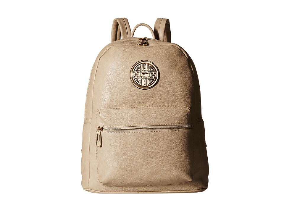 Gabriella Rocha - Camdyn Backpack with Front Pocket (Light Beige) Backpack Bags
