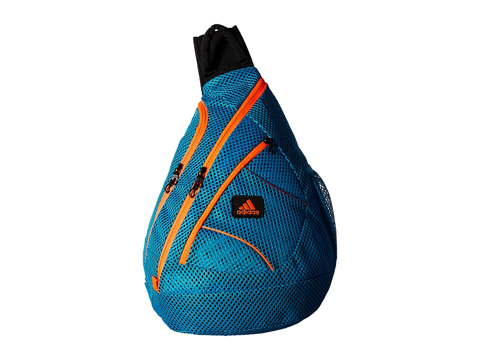adidas - Vista Mesh Sling (Solar Blue/Solar Orange) Sling Handbags