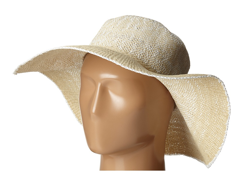 Ivanka Trump - Ombre Straw Floppy Hat (Natural/Egret) Caps