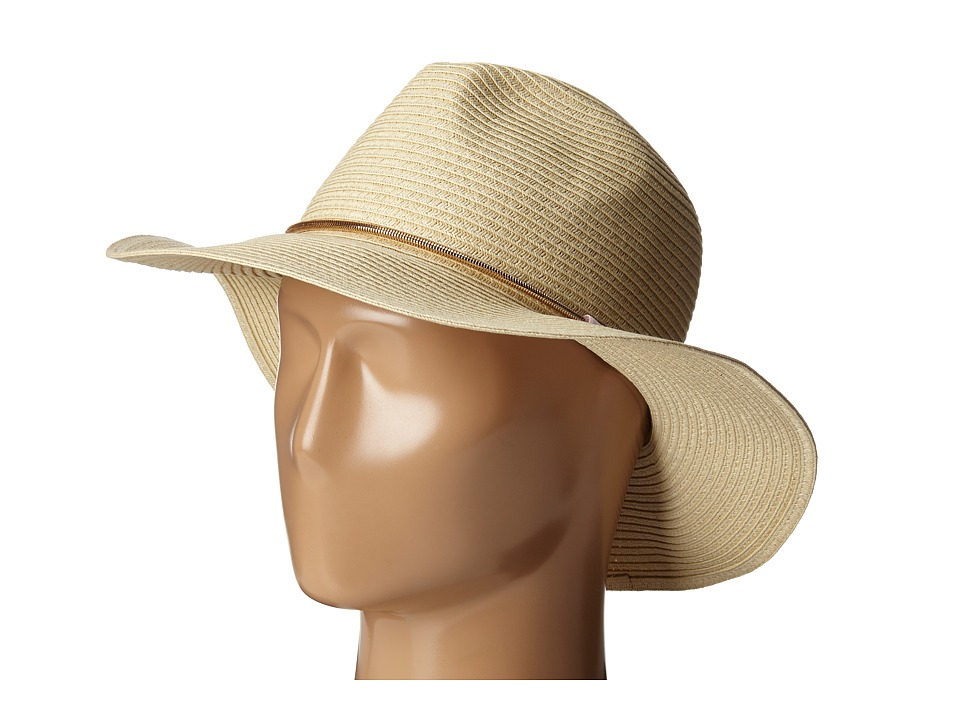 Ivanka Trump - Panama with Snake Chain Hat (Natural/Mauve Chalk) Caps