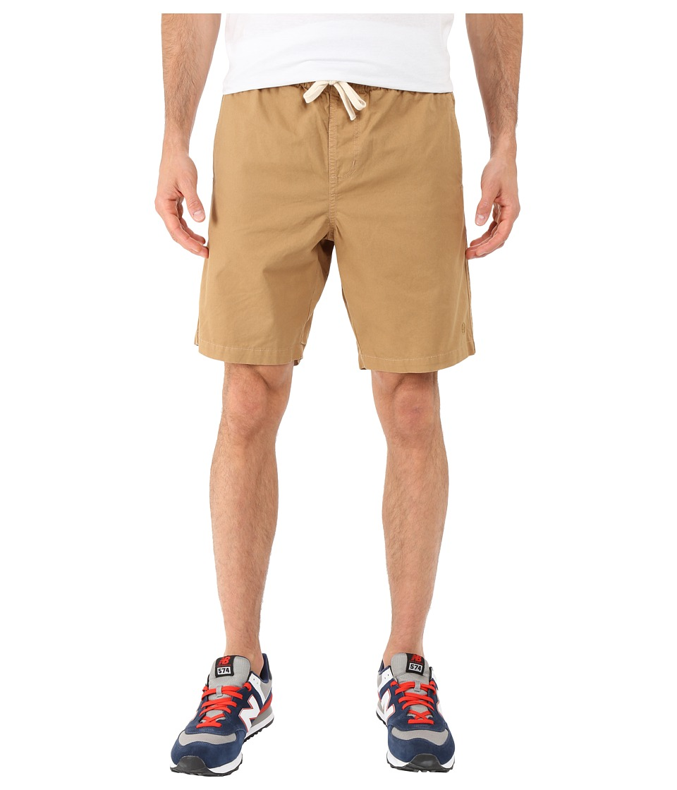 HUF - Sun Daze Easy Shorts (Khaki) Men's Shorts