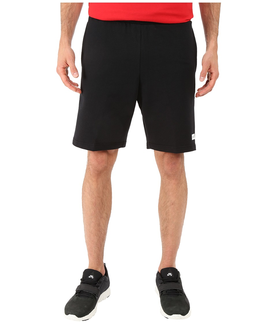HUF - Owens Fleece Shorts (Black) Men's Shorts