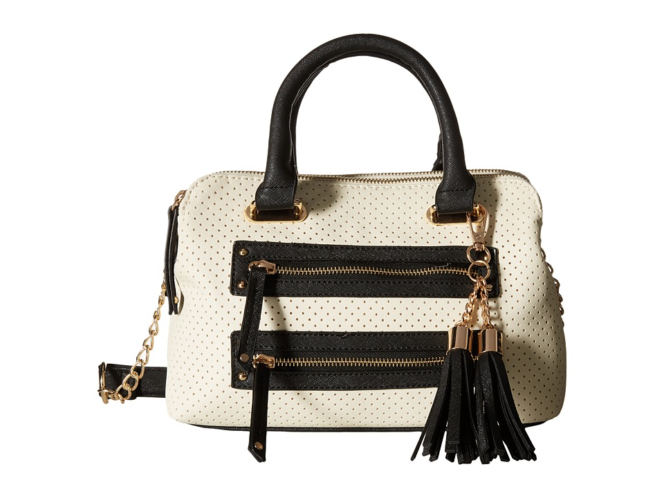 Gabriella Rocha - Sandra Double Zipper Satchel (Bone/Black) Satchel Handbags