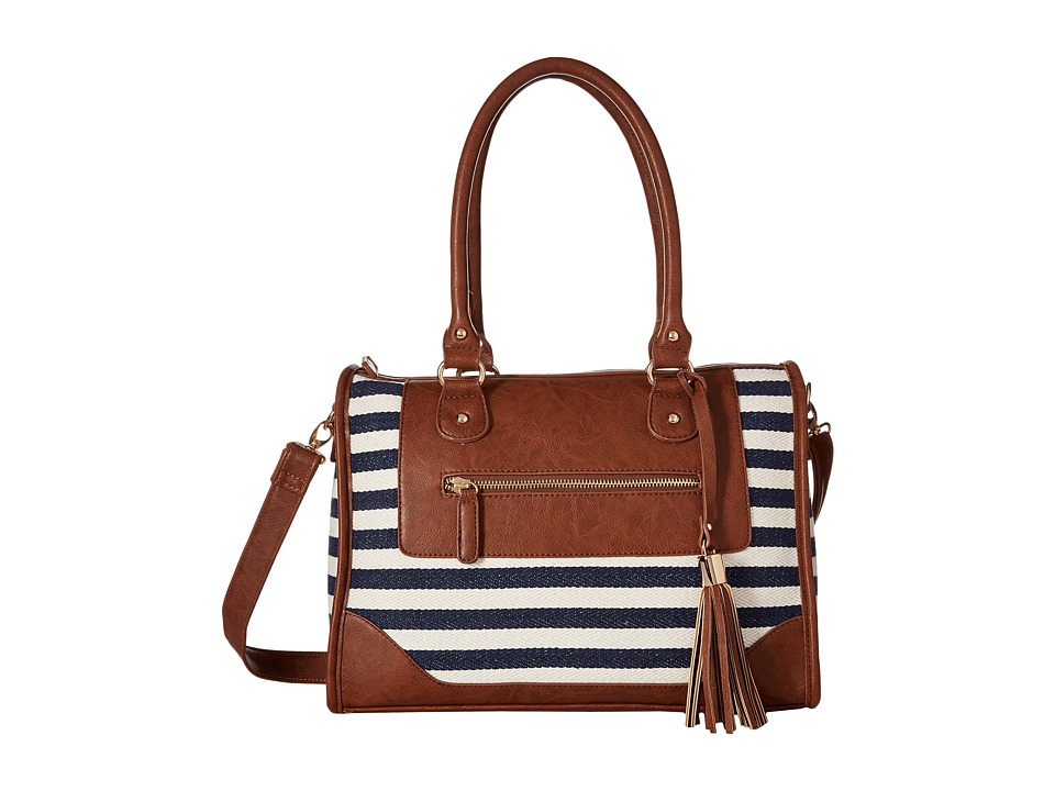 Gabriella Rocha - Kate Nautical Stripe Satchel (Navy/Ivory) Satchel Handbags