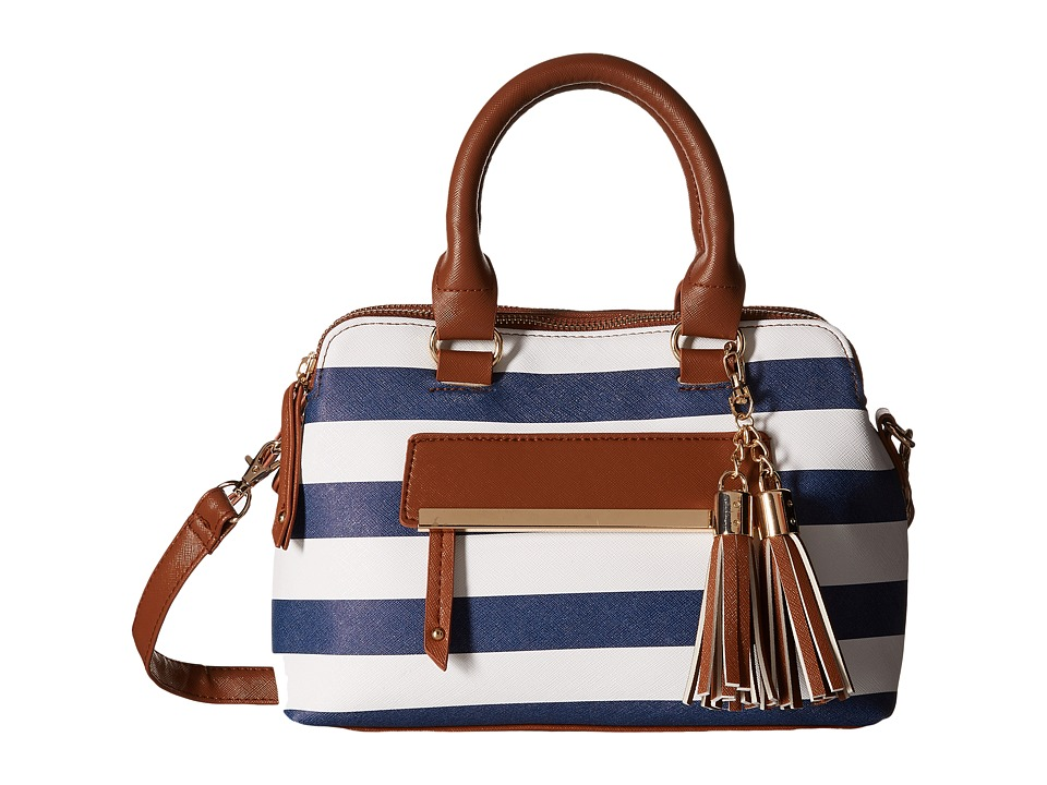 Gabriella Rocha - Marie Nautical Stripe Satchel (Navy/White) Satchel Handbags