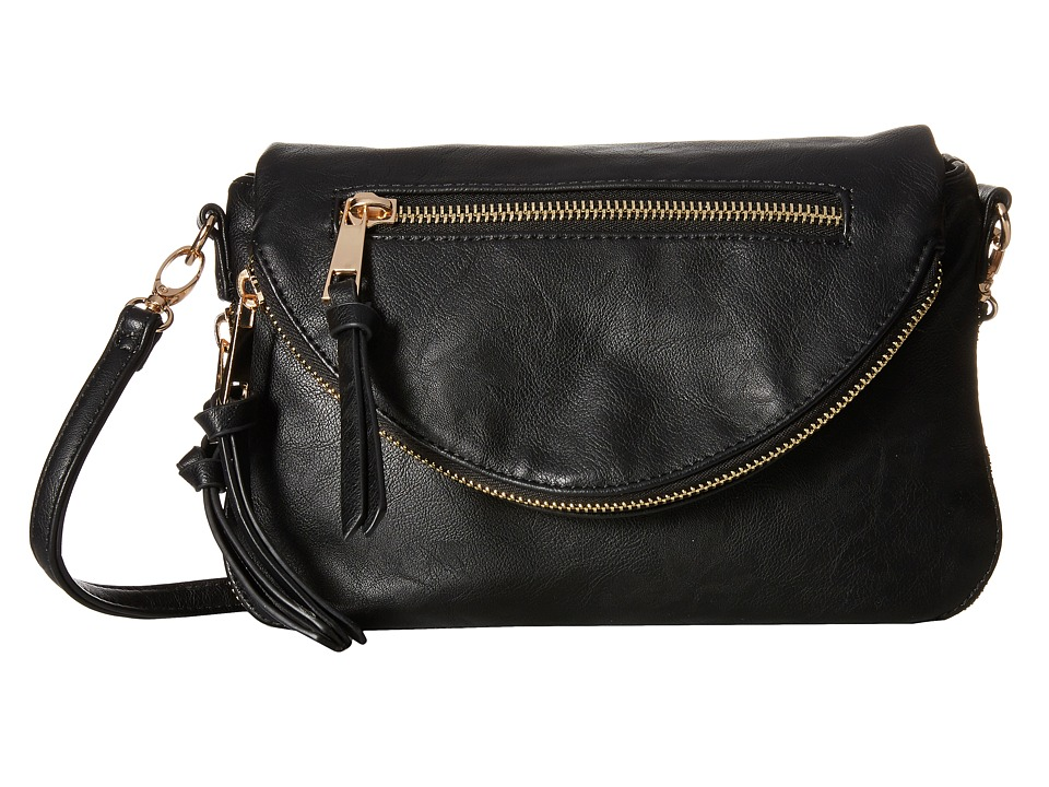 Gabriella Rocha - Adriana Double Zipper Crossbody (Black) Cross Body Handbags