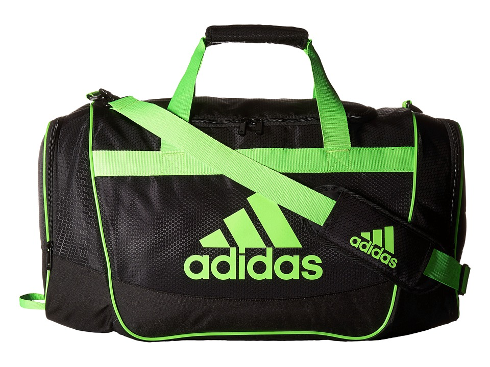 adidas - Defender II Medium Duffel (Black/Solar Green) Duffel Bags
