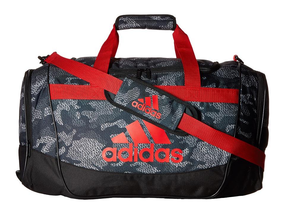 adidas - Defender II Medium Duffel (Prime Camo Grey/Scarlet/Black) Duffel Bags