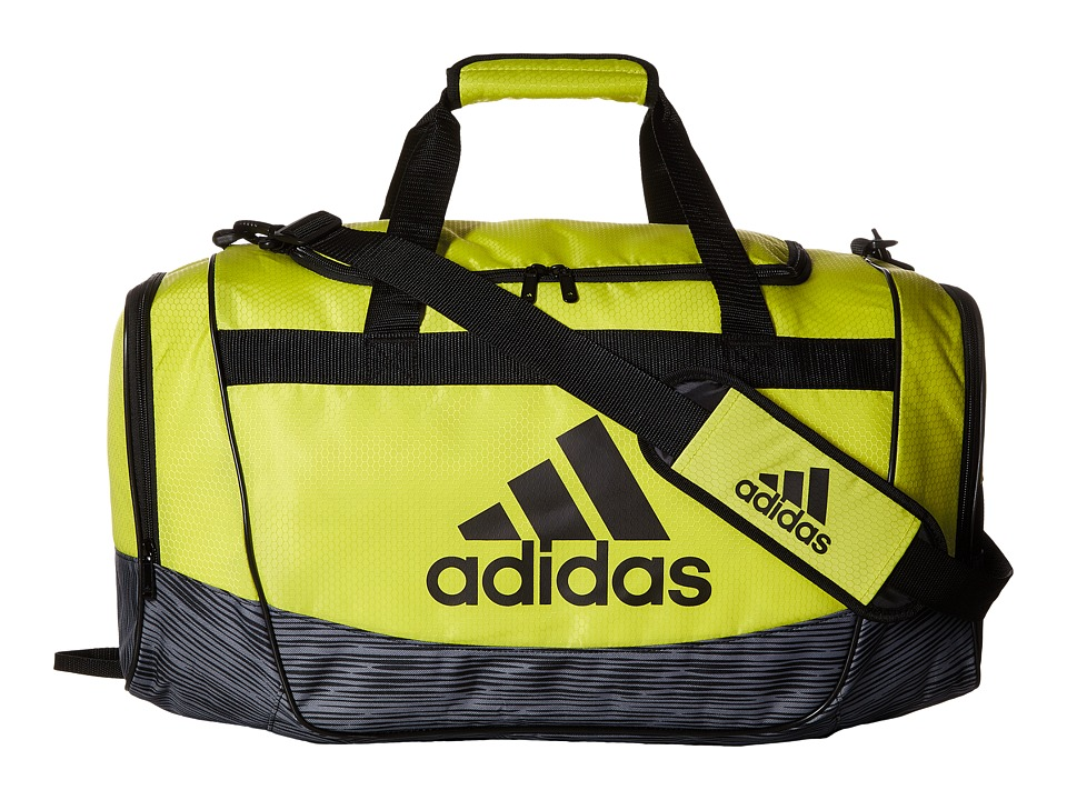 adidas - Defender II Medium Duffel (Shock Slime/Lo Stripe Grey/ Black) Duffel Bags