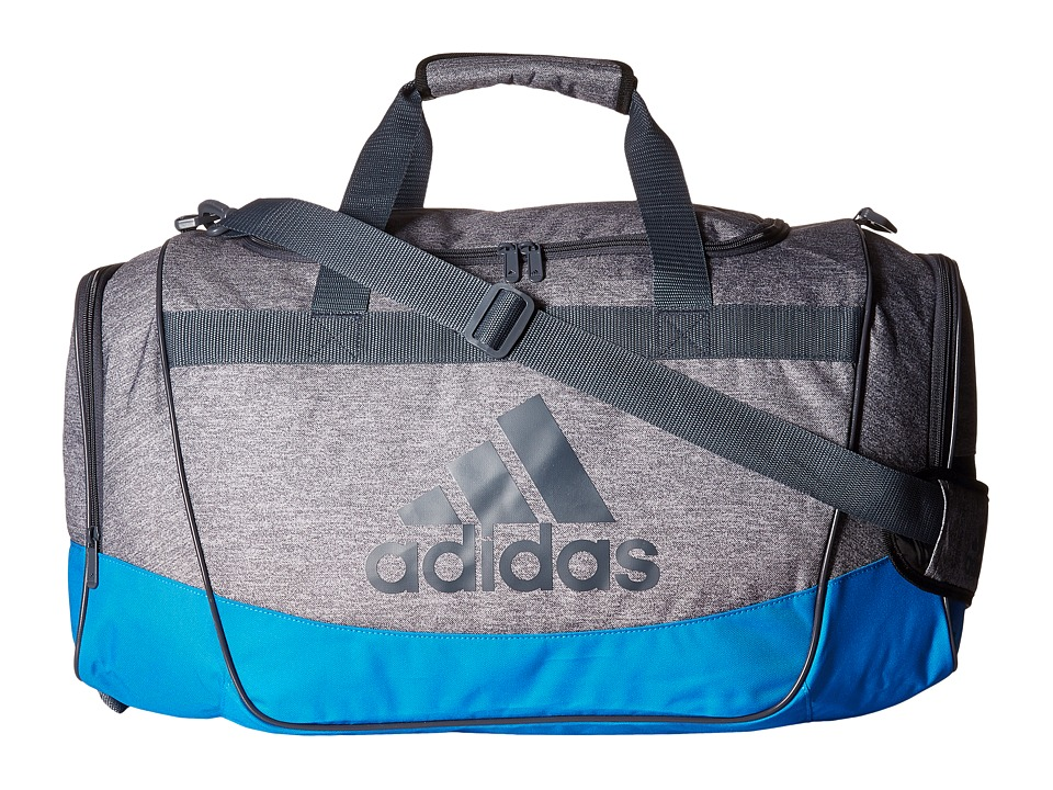 adidas - Defender II Medium Duffel (Heather Clear Grey/Bright Blue/Deepest Space) Duffel Bags