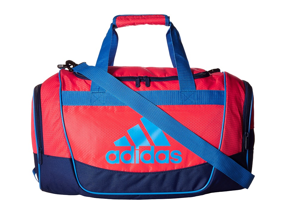 adidas - Defender II Small Duffel (Shock Red/Unity Ink/Ray Blue/Black) Duffel Bags