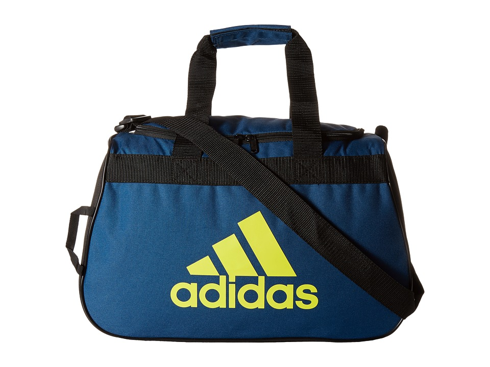 adidas - Diablo Small Duffel (Tech Steel/Shock Slime/Black) Duffel Bags