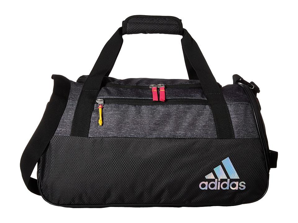 adidas - Squad III Duffel (Heather Print Deepest Space/Black/Shock Pink/Shock Slime) Duffel Bags