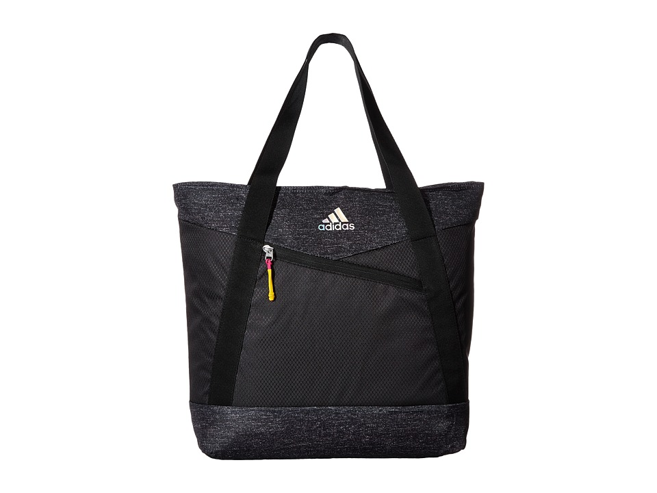 adidas - Squad III Tote (Heather Print Deepest Space/Black/Shock Pink/Shock Slime) Tote Handbags