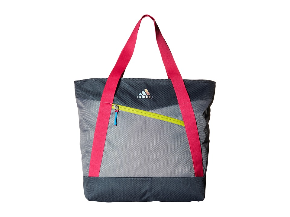 adidas - Squad III Tote (Grey/Deepest Space/Shock Pink/Shock Slime) Tote Handbags