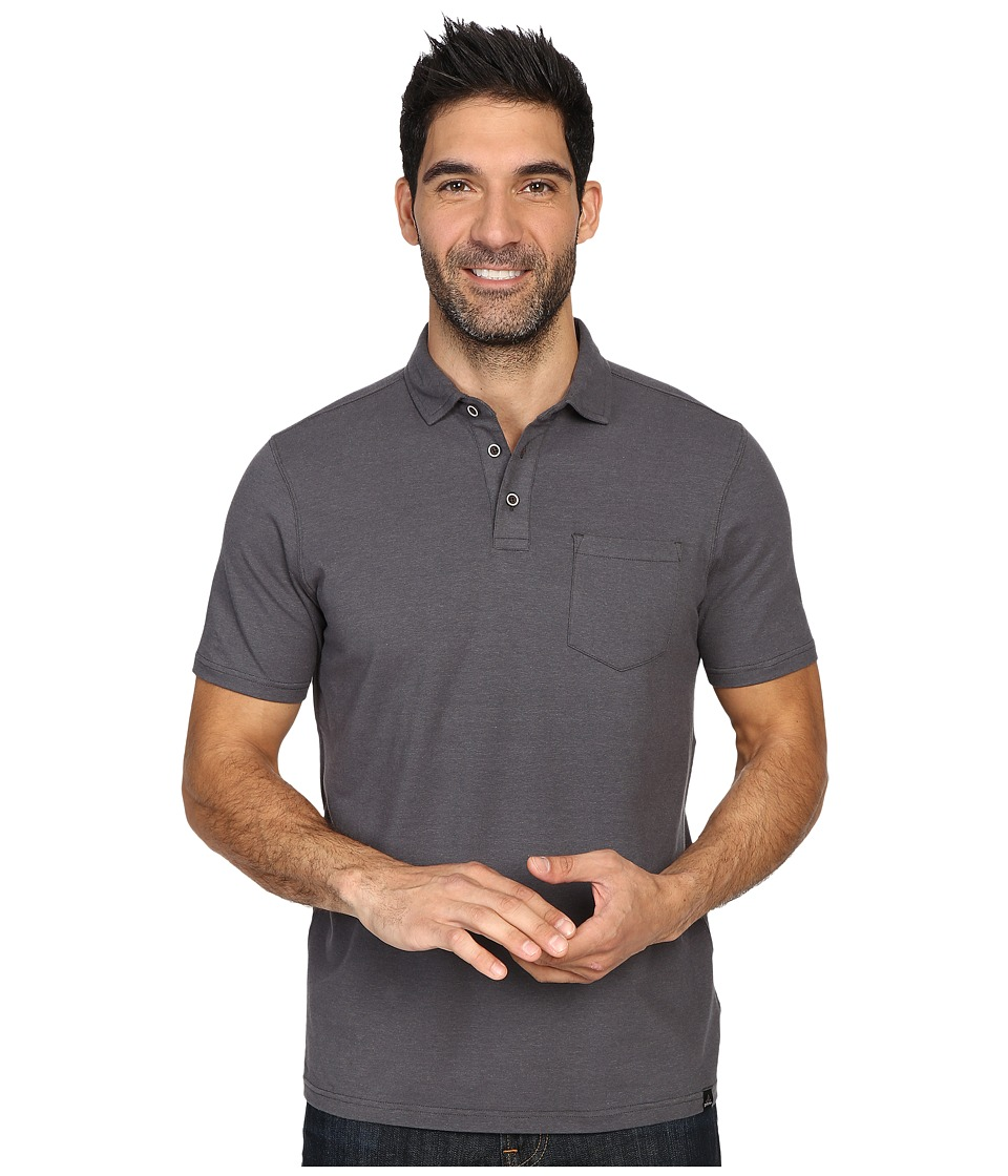 Prana - Brock Polo (Charcoal) Men's Clothing