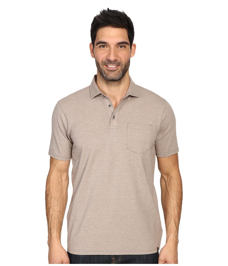 Prana - Brock Polo (Mud) Men's Clothing