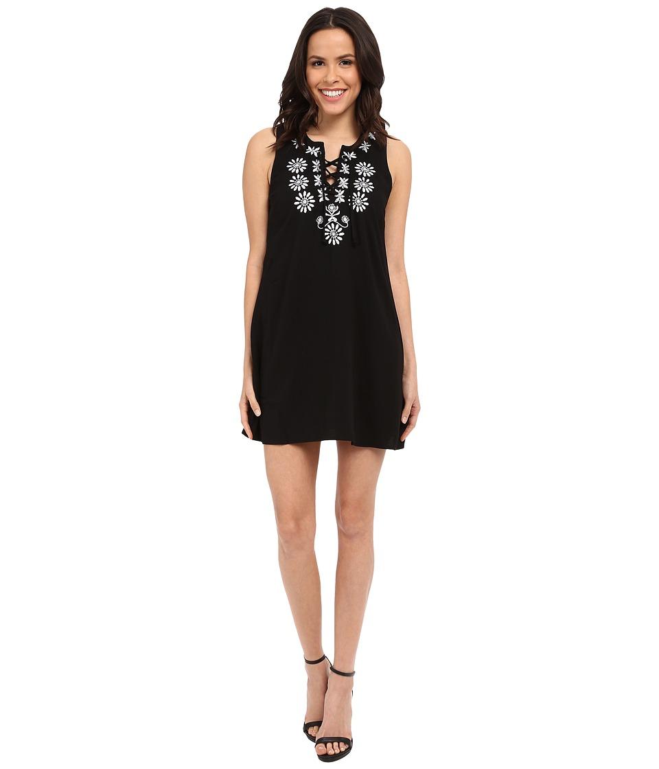 Brigitte Bailey - Aprilia Lace-Up Shift Dress (Black) Women's Dress