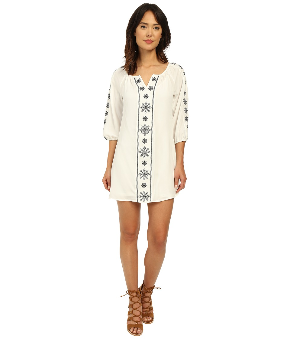Brigitte Bailey - Abruzzo Peasant Dress (Off-White) Women's Dress
