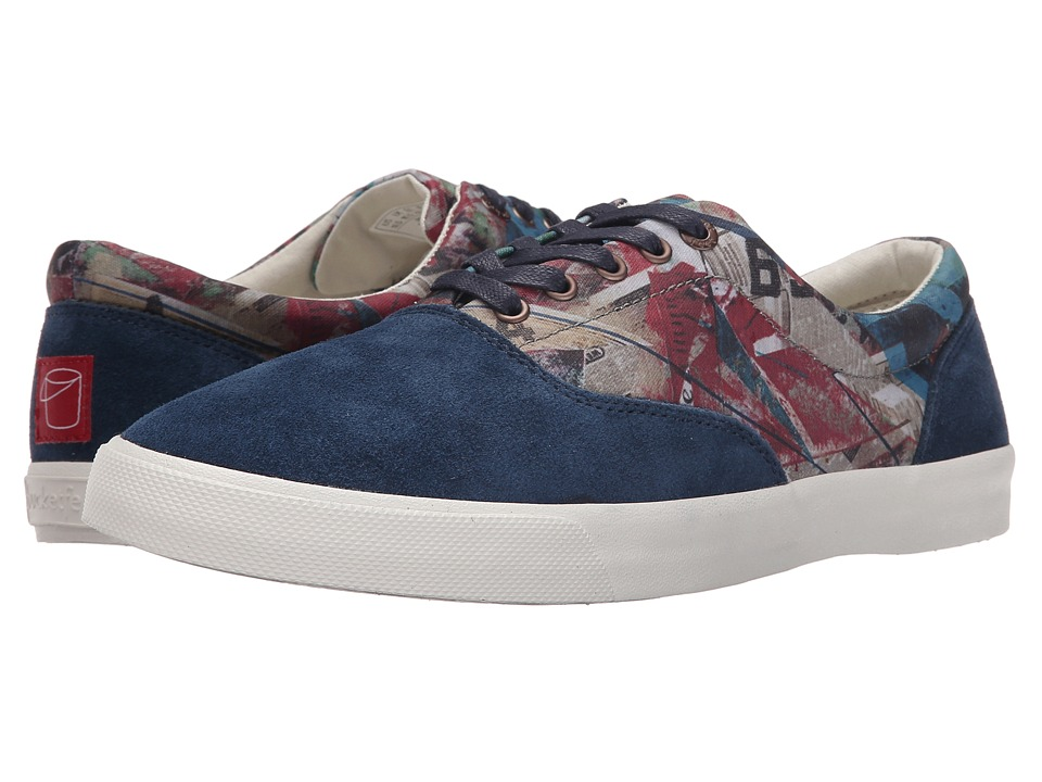 BucketFeet - Four Walls (Navy) Men's Lace up casual Shoes