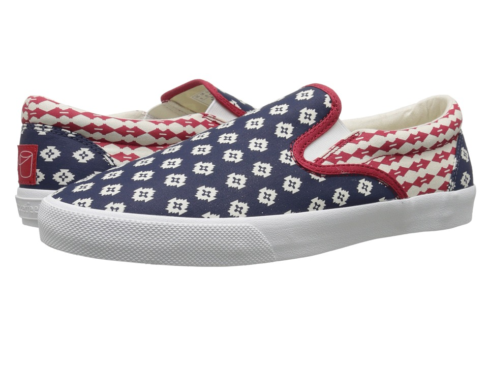 BucketFeet - Republic (Navy) Men's Slip on Shoes