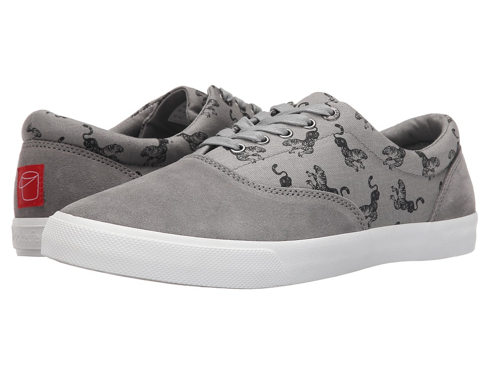 BucketFeet - Tiger (Grey) Men's Lace up casual Shoes