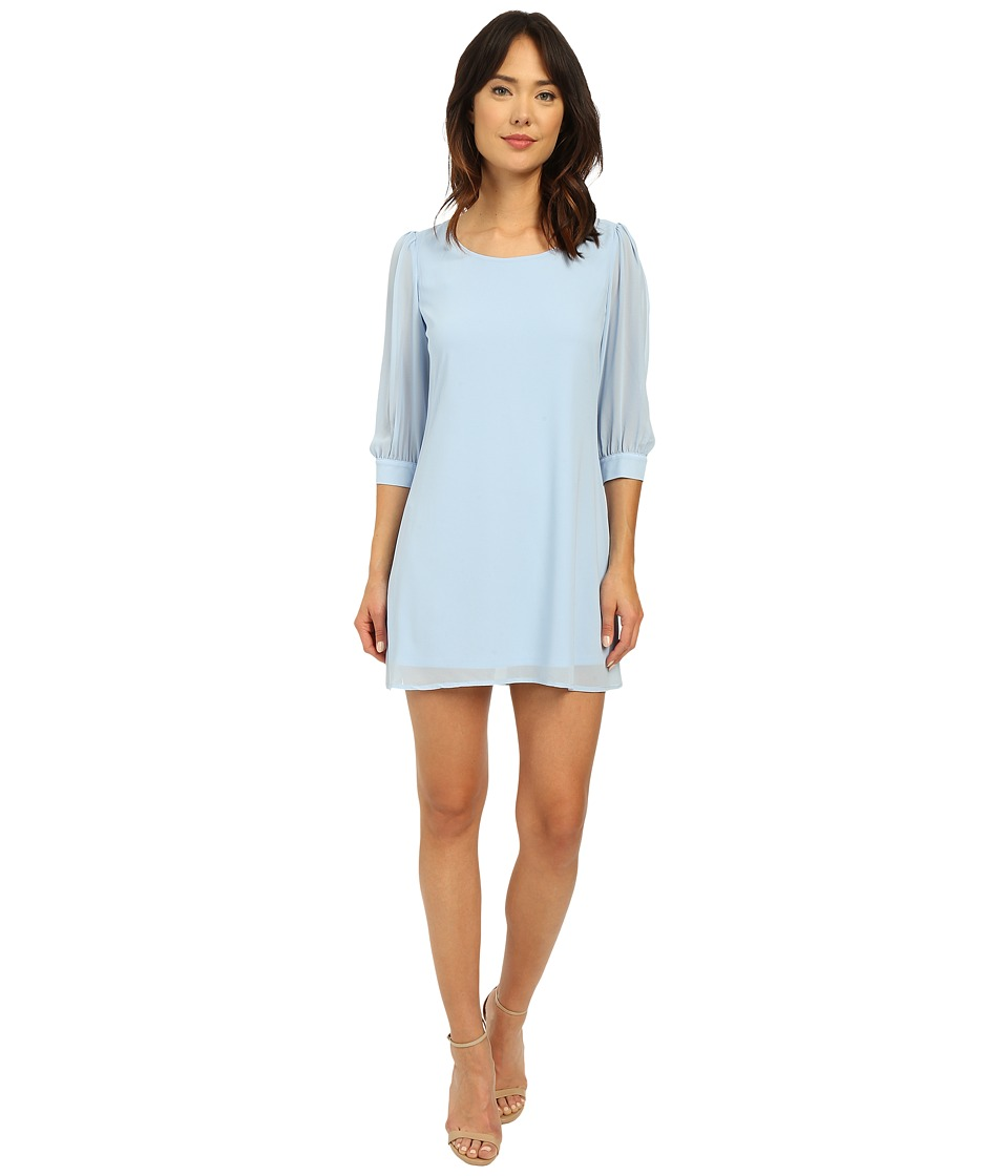 Brigitte Bailey - Cesena Lattice Shift Dress (Powder Blue) Women's Dress
