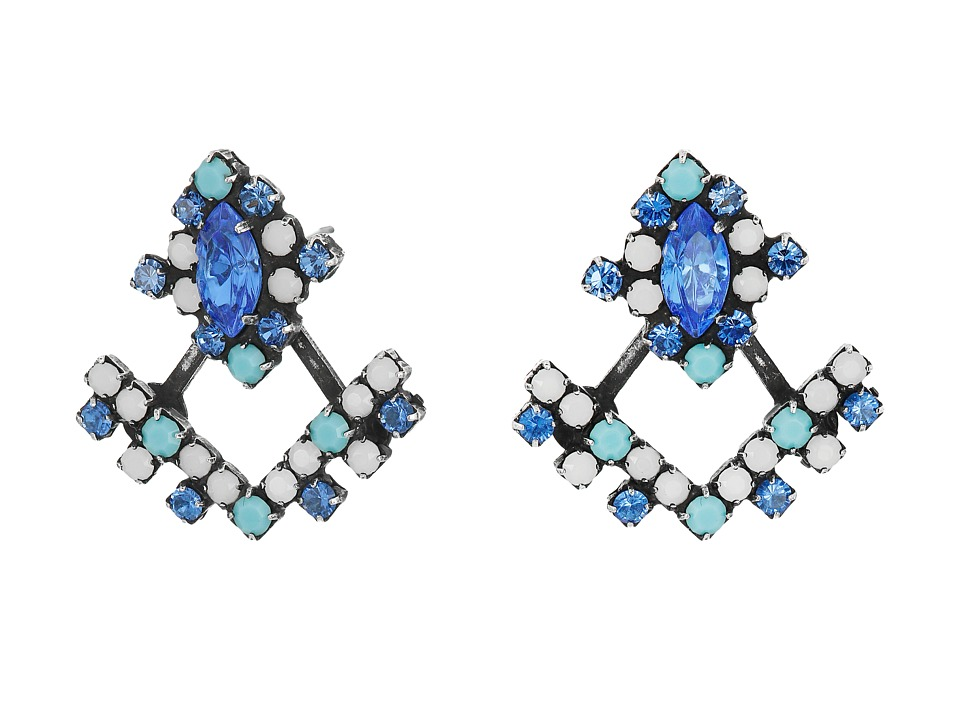 DANNIJO - SILVIA Earrings (Blue Asst) Earring