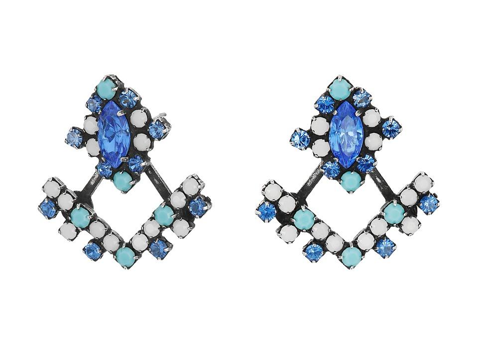 DANNIJO - SILVIA Earrings (Blue Asst) Earring