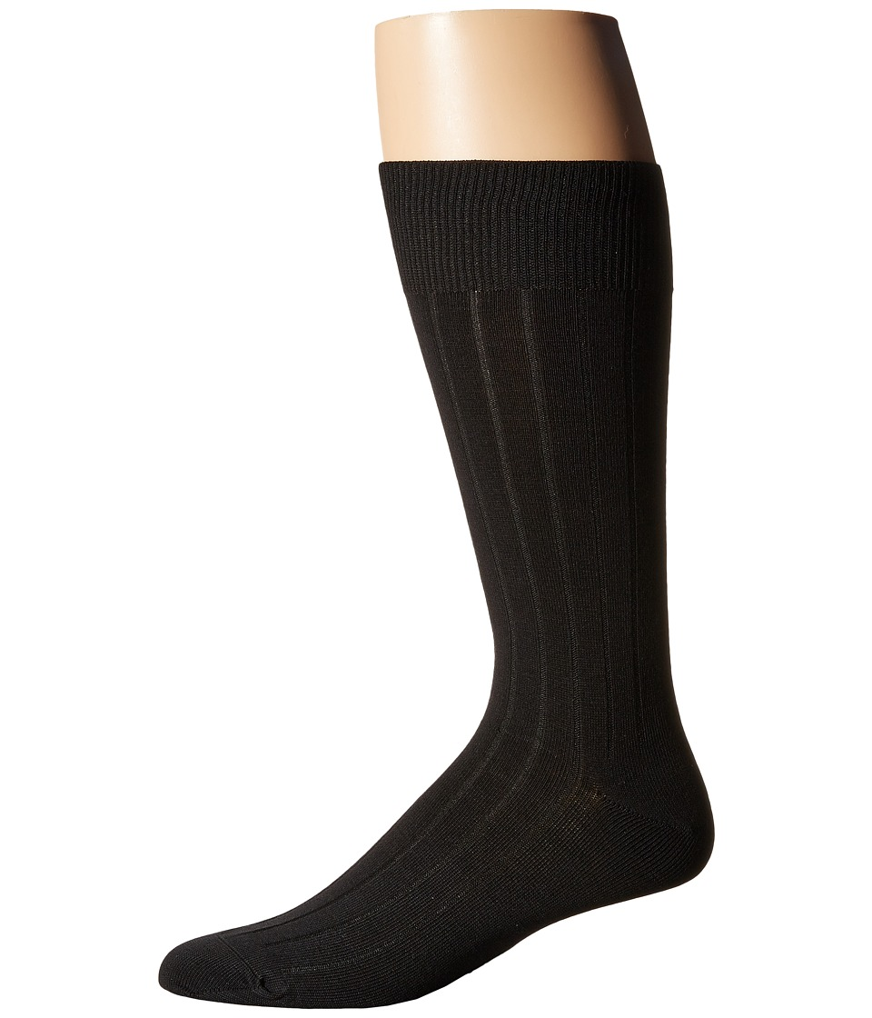 Cole Haan - 10x1 Ribbed Crew (Black) Men's Crew Cut Socks Shoes
