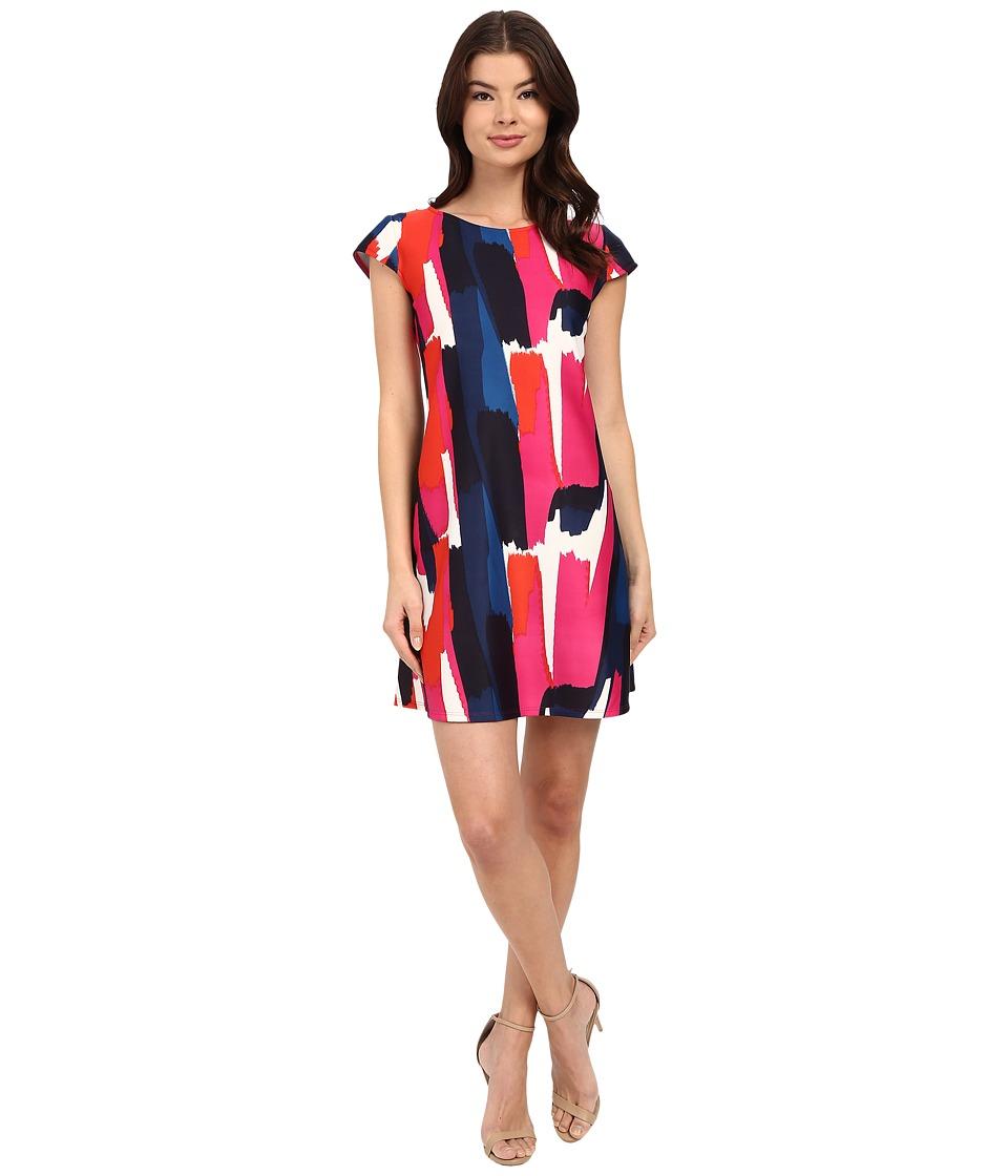 Christin Michaels Anders Dress (Navy/Fuchsia) Women