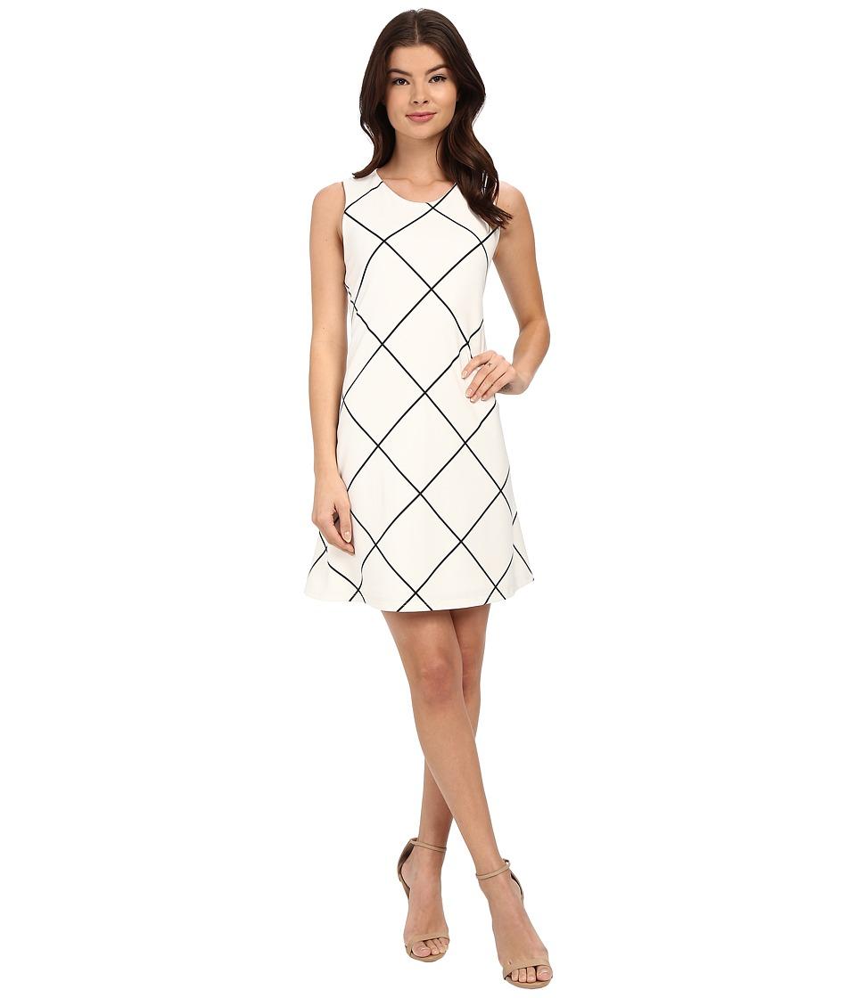 Christin Michaels Anette Sleeveless Dress (Ivory/Black) Women