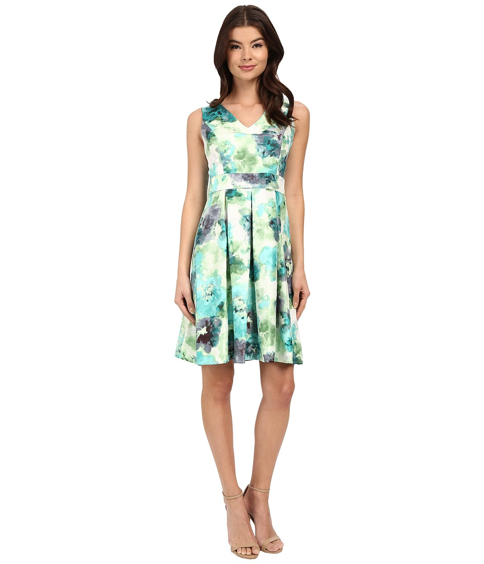 Christin Michaels - Abellona Dress (Teal Combo) Women's Dress