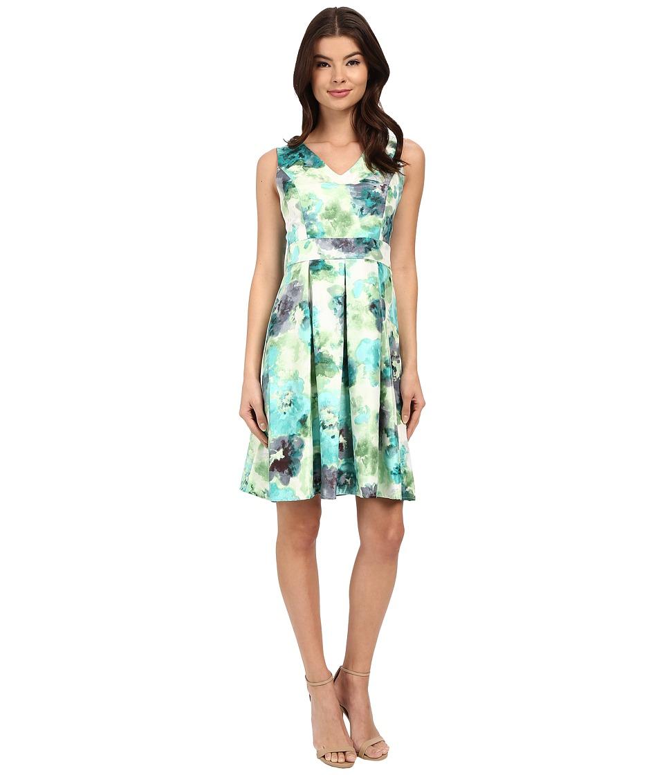 Christin Michaels Abellona Dress (Teal Combo) Women
