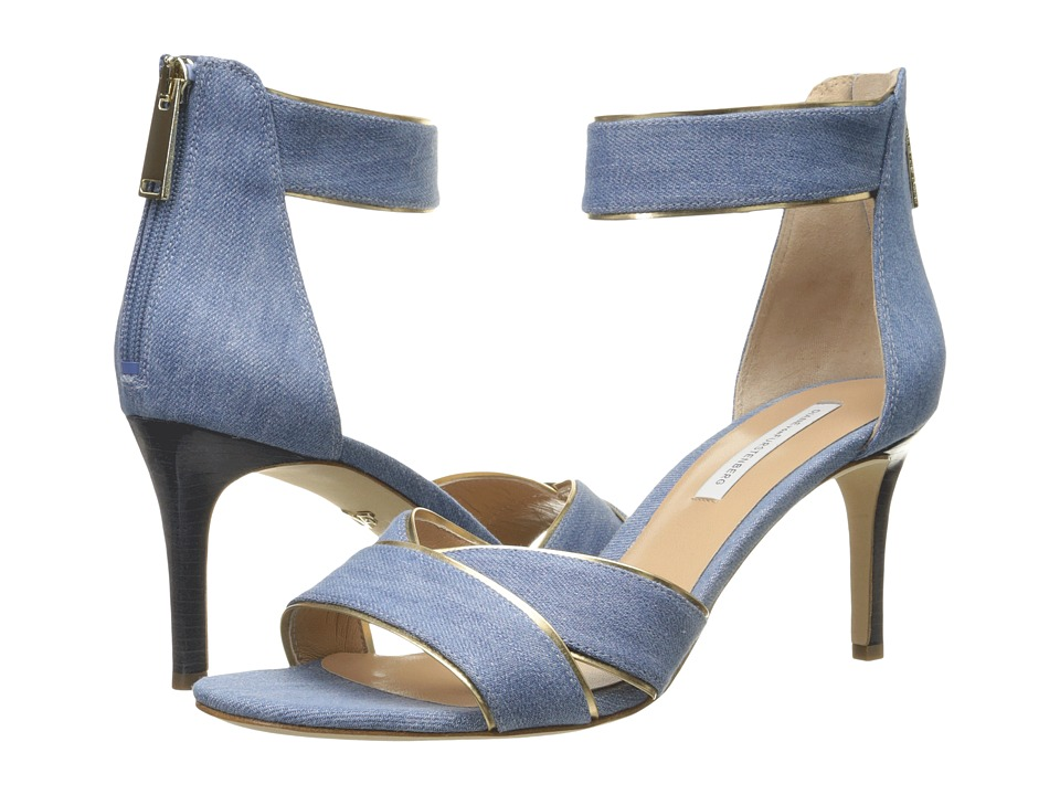 Diane von Furstenberg - Ragusa (Blue Denim/Specchio) Women's Shoes