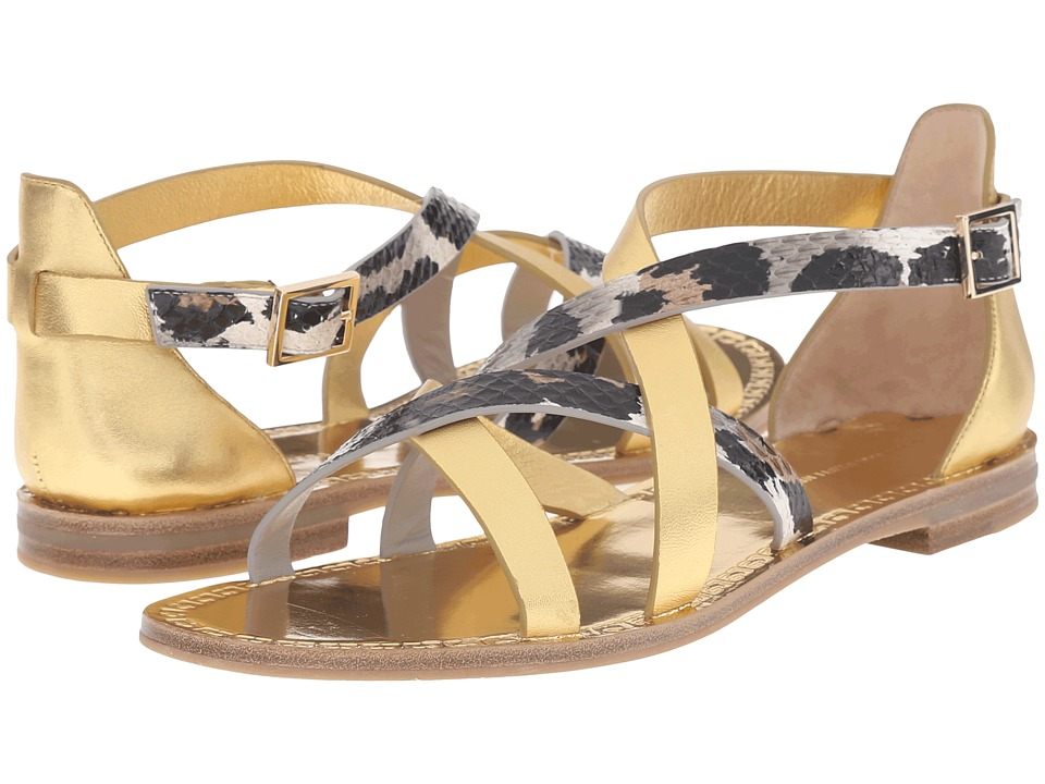 Diane von Furstenberg - Cannes (Gold Metallic/Snow Cheetah) Women's Shoes