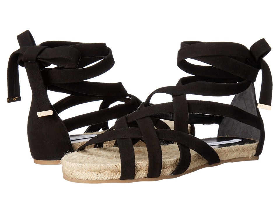 Diane von Furstenberg - Bastia (Black Kid Suede) Women's Shoes