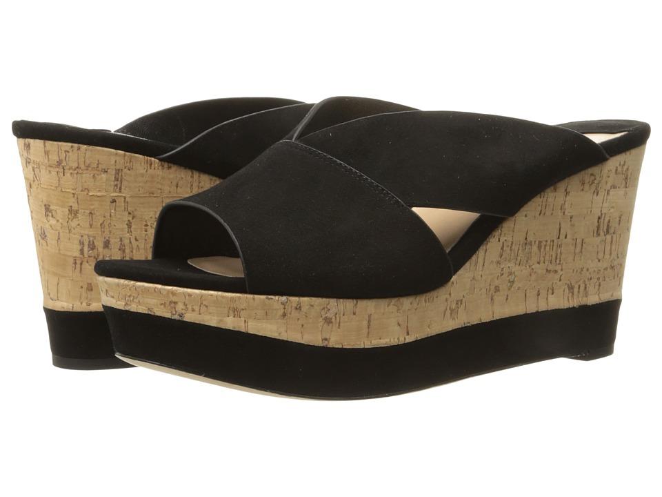 Diane von Furstenberg - Monaco (Black Nappa/Kid Suede) Women's Shoes