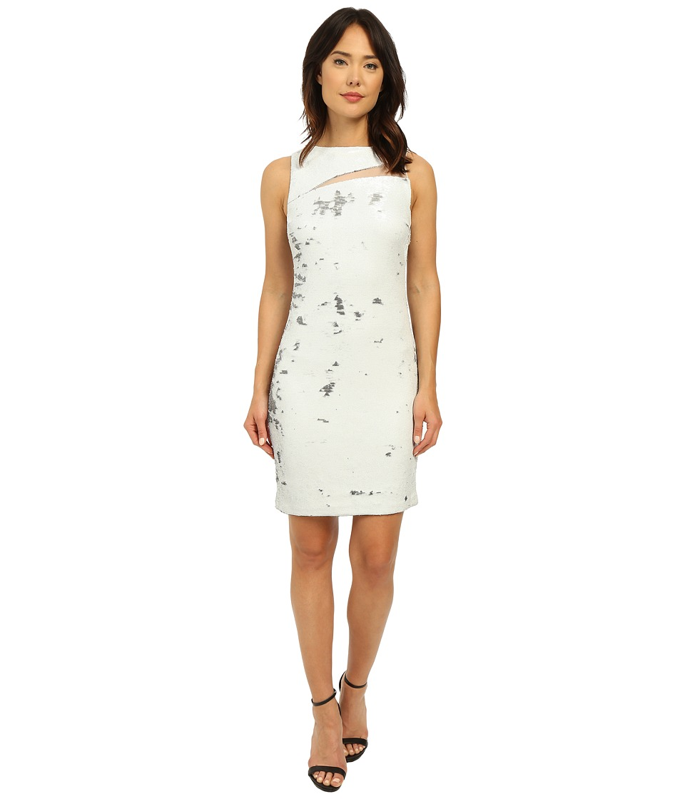 Christin Michaels - Coming and Going Sequin Dress (White/Gunmetal) Women's Dress