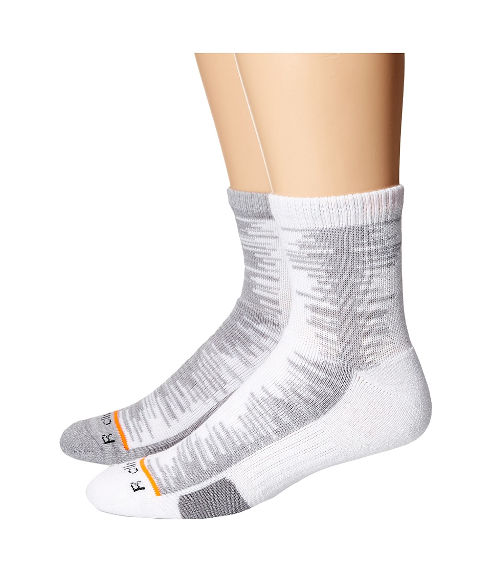 adidas - Frequency 2-Pack Quarter (White/Light Grey Heather Solid Grey/Light Onix Space Dye/Solar O) Men's Quarter Length Socks Shoes