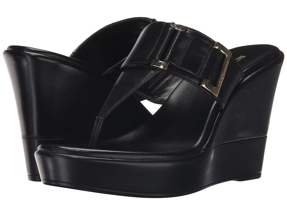 BCBGeneration - Quartz (Black New Soft Metallic) Women's Wedge Shoes