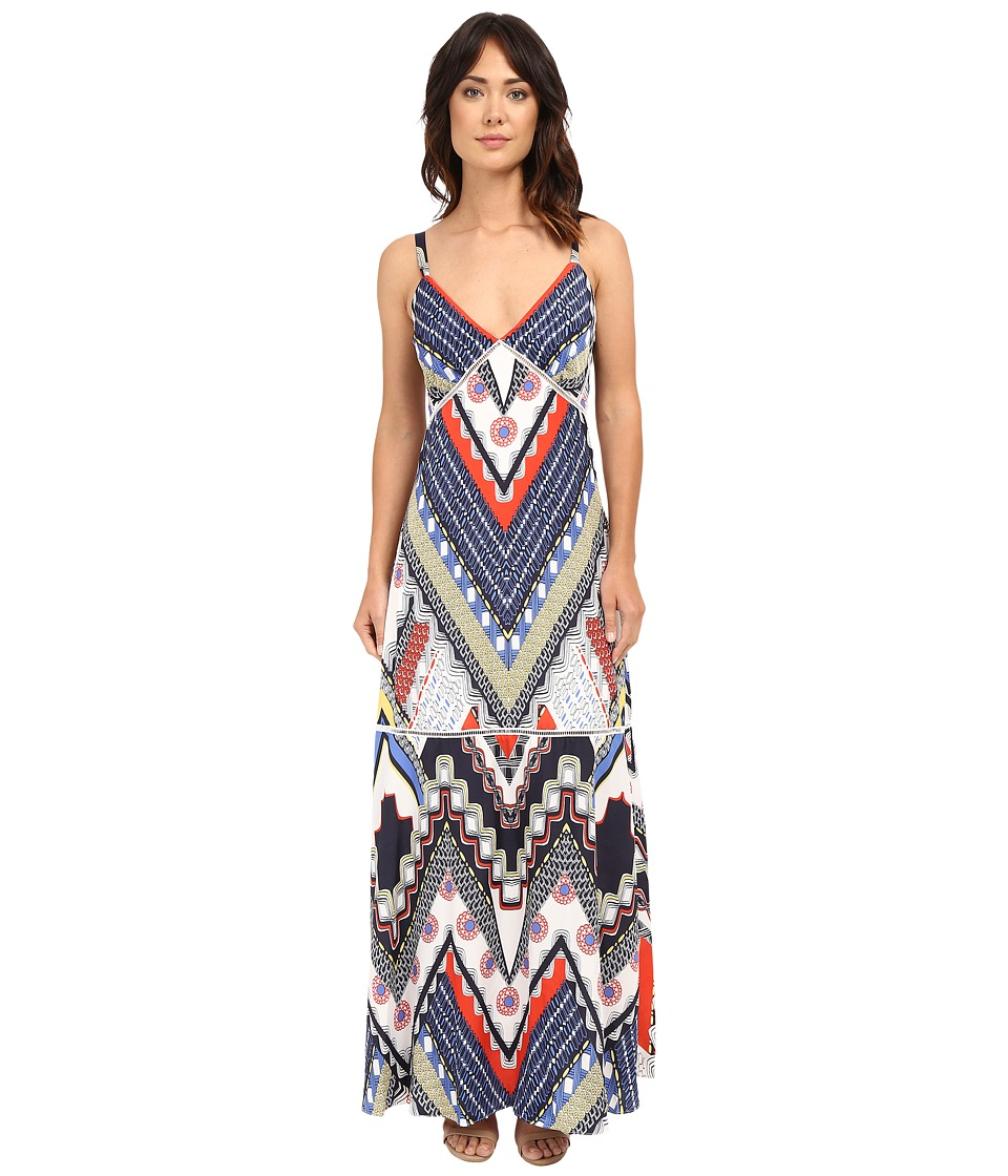 Christin Michaels - Chardonnay Maxi Dress (Blue Multi) Women's Dress