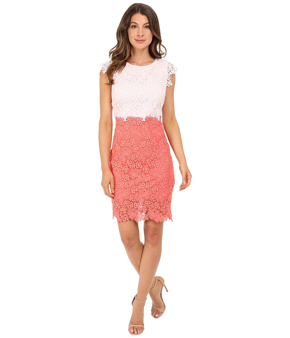 Christin Michaels - Parisian Lace Dress (Pale Pink/Coral) Women's Dress