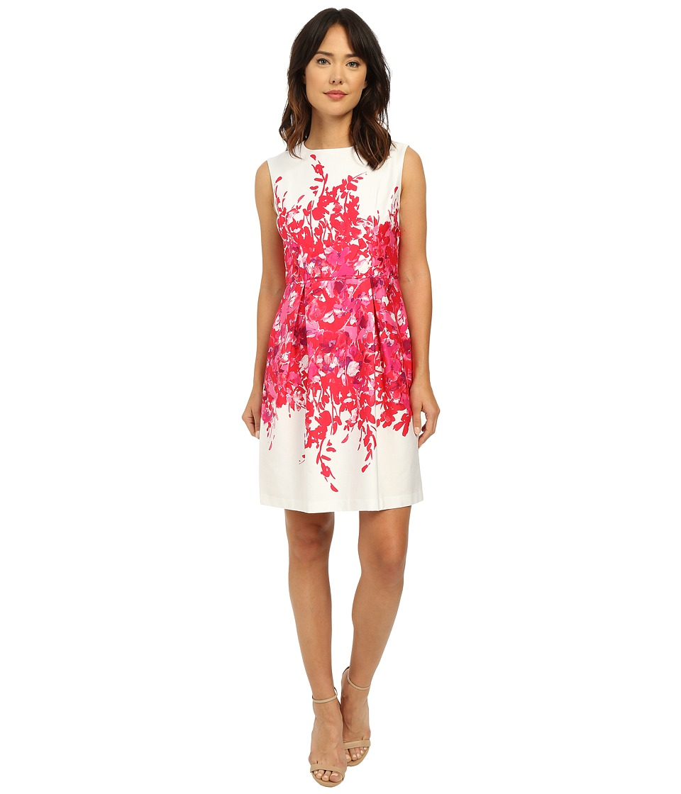 Christin Michaels - Modica Floral Dress (Fuchsia/Ivory) Women's Dress